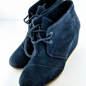 Toms Blue Desert Wedge Shoes